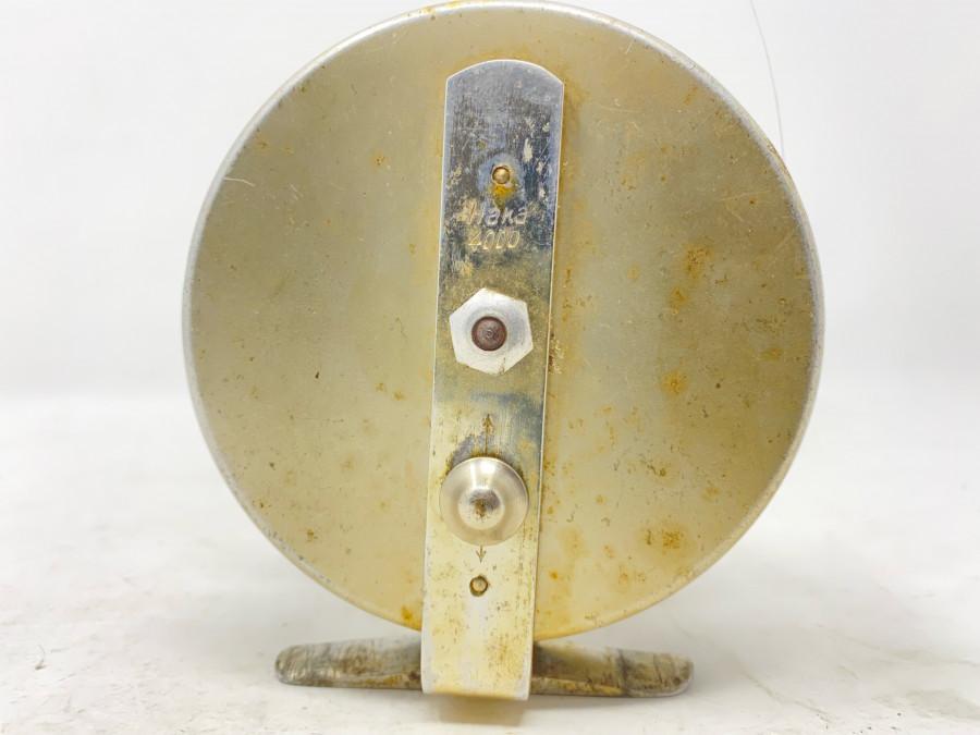 Grundrolle, DAM Haka 4000, Alu, mit Schnur, Rollendurchmesser 102mm, Rollenbreite 40mm, Gebrauchsspuren