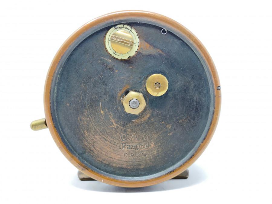 Grundrolle, DAM Favarit, D.R.G.M, Alu, Messing, Rollendurchmesser 100mm, Rollenbreite 44mm, Gebrauchsspuren