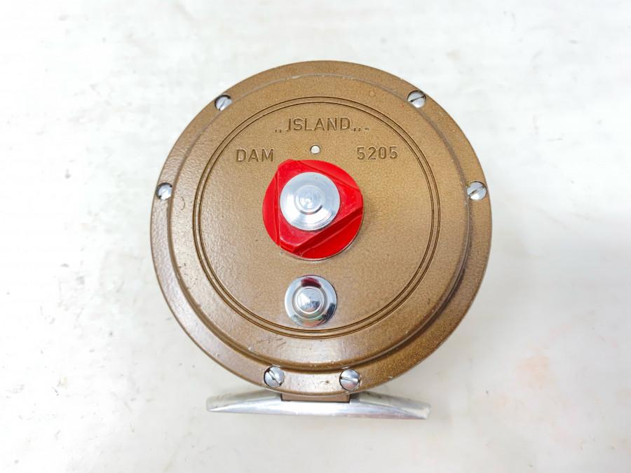 Fliegenrolle, DAM Island 5205, ausschaltbare Knarre, Alu, Rollendurchmesser 92mm, Rollenbreite 38mm, Gebrauchsspuren