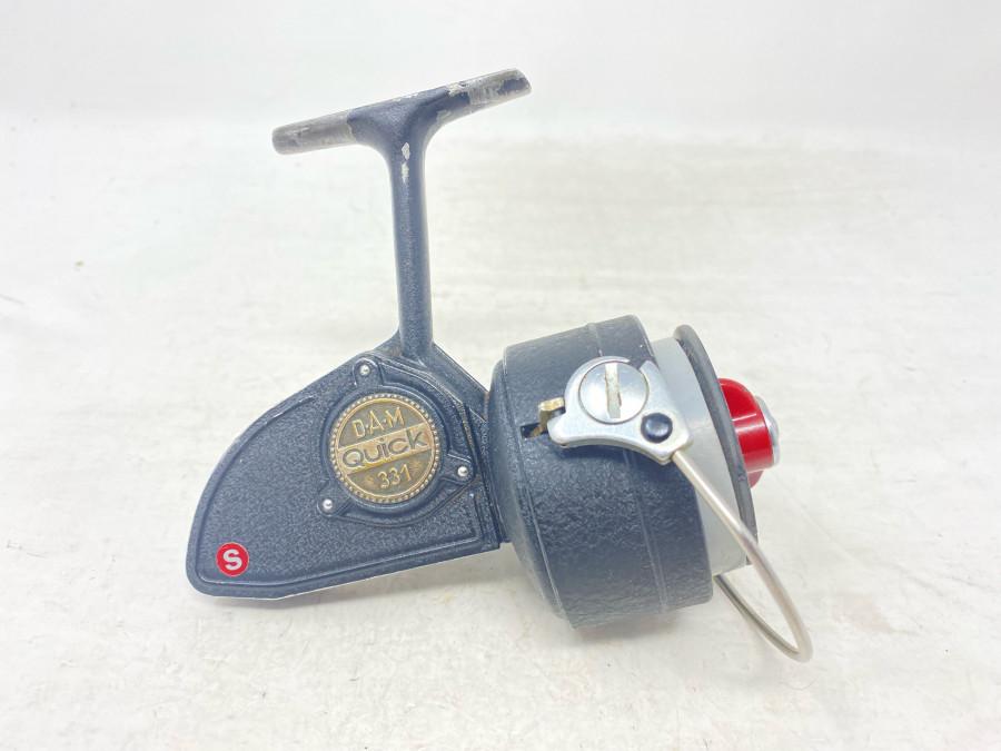Stationärrolle, DAM Quick 331, mit Schnur, Gebrauchsspuren