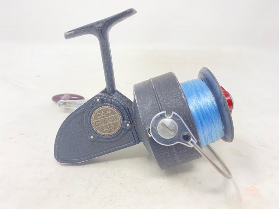Stationärrolle, DAM Quick 440, mit Schnur, Gebrauchsspuren