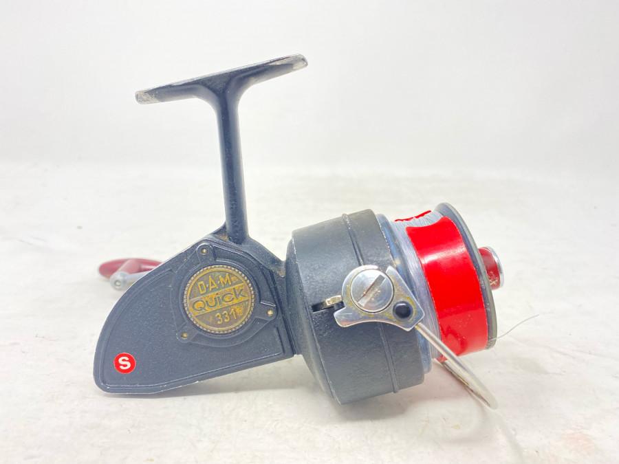 Stationärrolle, DAM Quick 331, S, mit Schnur, Gebrauchsspuren
