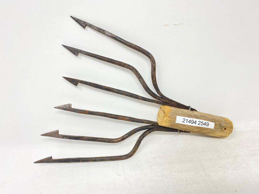 Aalspeer, Stahl geschmiedet, Stielhalterung, 200mm Breite, 180mm Länge