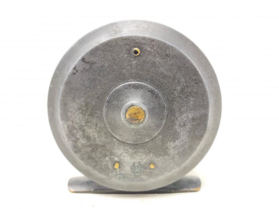 Kleine Fliegenrolle, Viktoria's, A& N. C. S. Ltd, London, 75mm Rollendurchmesser, 30mm Rollenbreite, Horngriff, sehr massive Rolle