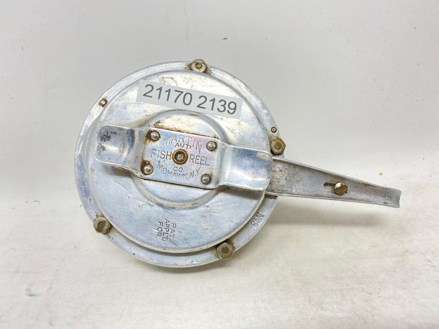 Fliegenrolle, Automatik Fly Reel, Martin, No. 3, Pat. Appld For, technisch in Ordcnung, Gebrauchsspuren