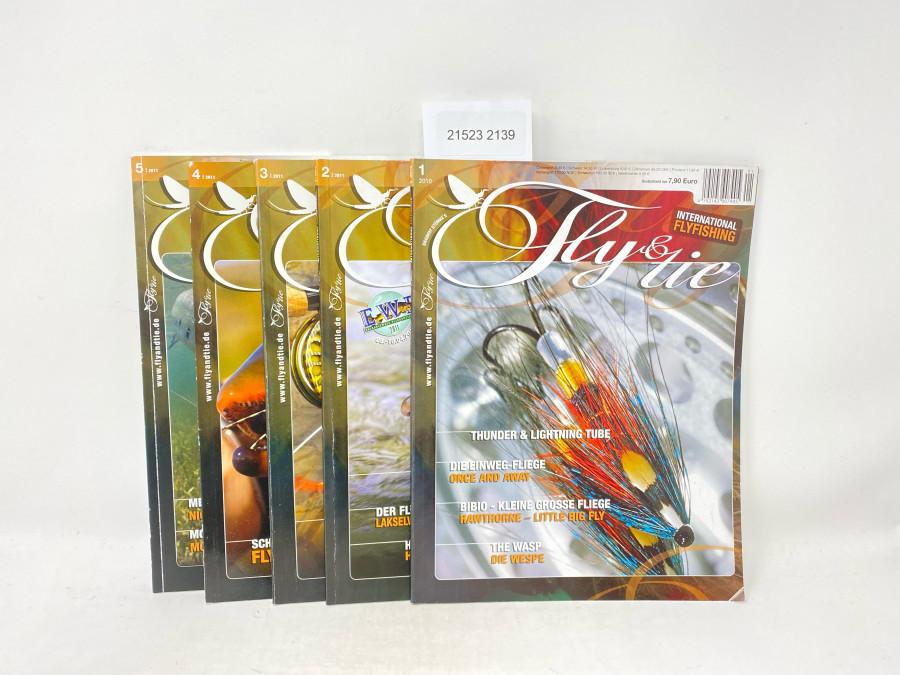 Zeitschriften: Fly & tie, Heft 1 2010, Heft 2 2011, Heft 3 2011, 4 2011 und 5 2011