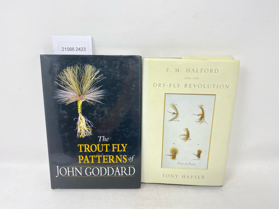 2 Bücher: F.M. Halford and the Dry-Fly Revolution, Tony Hayter, 2002; The Trout Fly Patterns of John Goddard