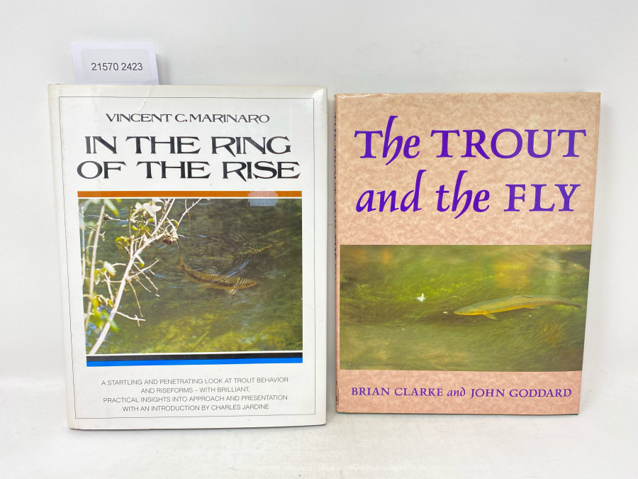 2 Bücher: The Trout and the Fly, Brian Clarke and John Goddard, 1995; In the Ring of the Rise, Vincent C. Marinaro, 1996