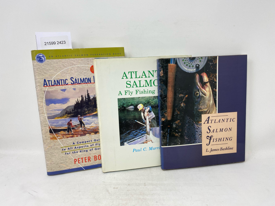 3 Bücher: Atlantic Salmon Handbook. A Compact Guide to all Aspects of Fly Fishing for the King of  Game Fish, Peter Bodo, 1997; Atlantic Salmon A Fly Fishing Primer, Paul C Marriner, 1992; Atlantic Salmon Fishing, L. James Bashline 1987