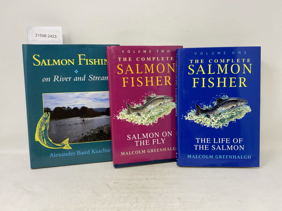 3 Bücher: Salmon Fishing on River and Stream, Alexander Baird Keachie, 1995; The Complete Salmon Fisher, The Life of the Salmon, Malcolm Greenhalgh, Volume One, 1996; The Complete Salmon Fisher, Salmon on the Fly, Volume Two, Malcolm Greenhalgh, 1996