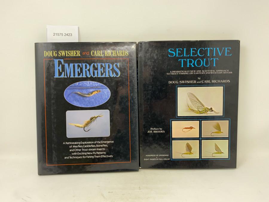 2 Bücher: Emergers, Doug Swisher and Carl Richards, 1991; Selective Trout, Doug Swisher and Carl Richards, Preface by Joe Brooks, 1971