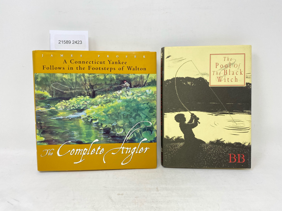 2 Bücher: The Pool of The Black Witch, Denys Watkins-Pitchford, 2002; The Complete Angler, James Prosek, A Connecticut Yankee Follows in the Footsteps of Walton, 1975
