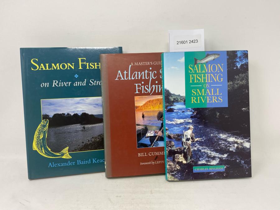 3 Bücher: A Master´s Guide to Atlantic Salmon Fishing, Bill Cummings,  Forword by Lefty Kreh, 1995; Salmon Fishing on River and Stream, Alexander Baird Keachie, 1995; Salmon Fishing on Small Rivers, Charles Bingham, 1994