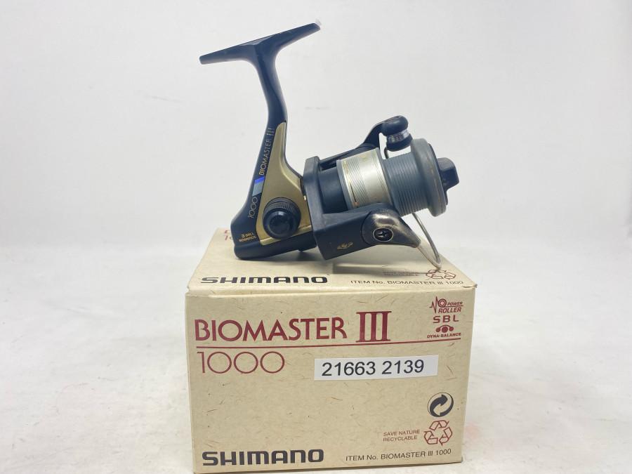 Stationärrolle, Shimano Biomaster III, 1000, leichte Gebrauchsspuren, im Karton
