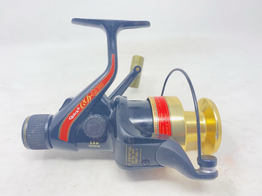 Stationärrolle, DAM Quick CD-G 350, technisch in Ordnung, Gebrauchsspouren