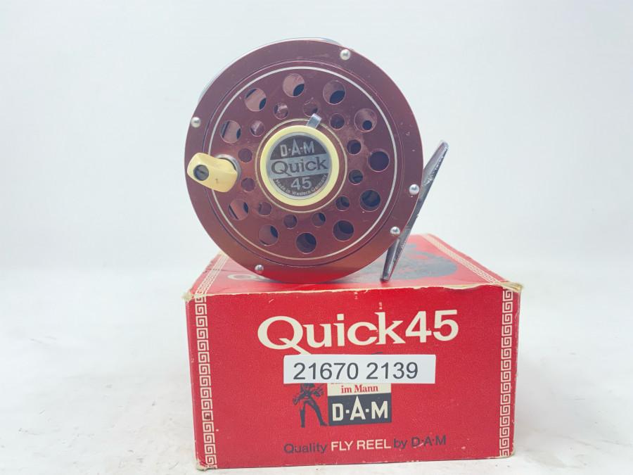Fliegenrolle, DAM Quick 45, technisch gut, Gebrauchsspuren, im Karton