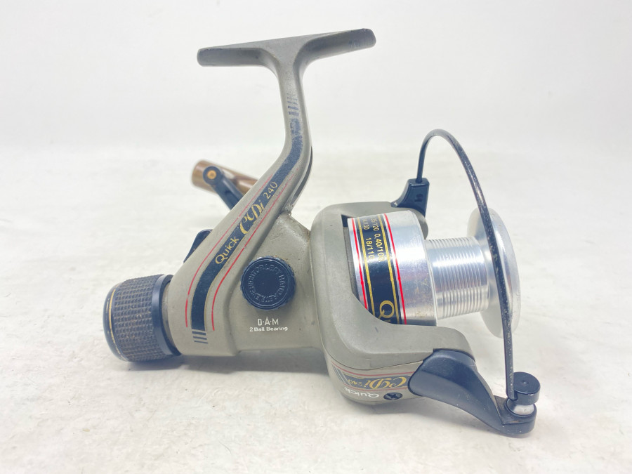 Stationärrolle, DAM Quick CDi 240, technisch gut, Gebrauchsspuren