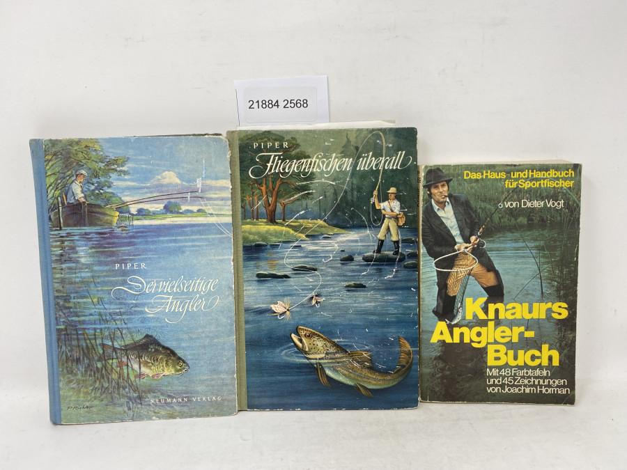 3 Bücher: Der vielseitige Angler, Piper, 1953; Fliegenfischen überall, Piper 1959; Knaurs Angler-Buch. Das Haus- und Handbuch für Stortfischer, Dieter Vogt, 1978