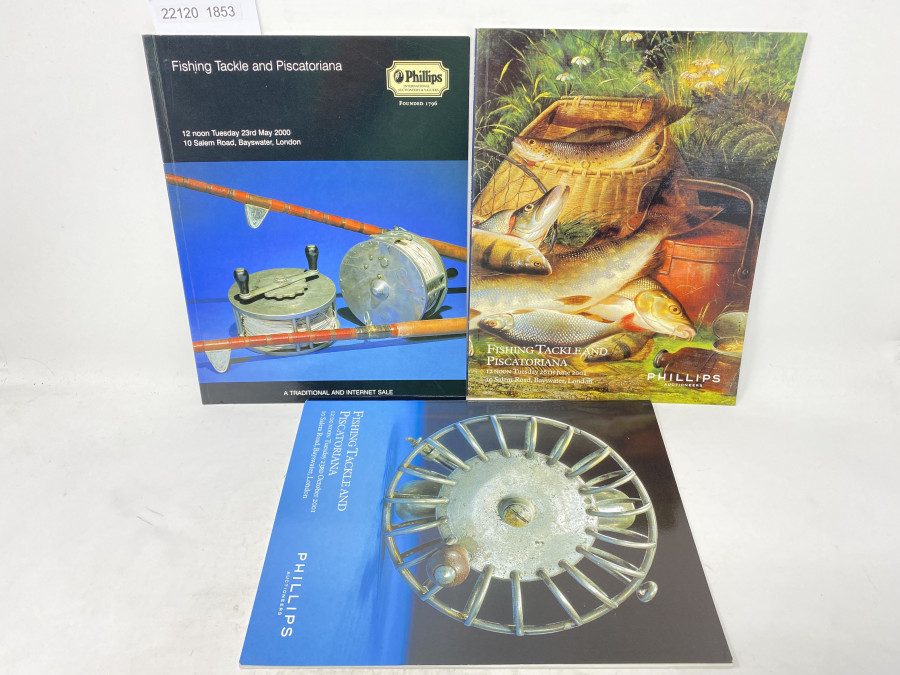 3 Auktionskataloge: Phillips 05/2000, 10/2001 und 06/2001