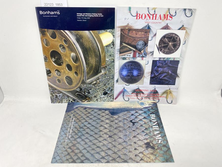 3 Auktionskataloge: Bonhams 05/2000, 11/2000 und 05/2002