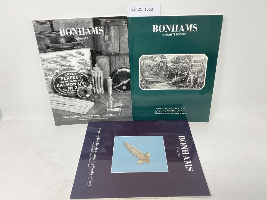 3 Auktionskataloge: Bonhams 08/1997, 01/1999 und 06/1999
