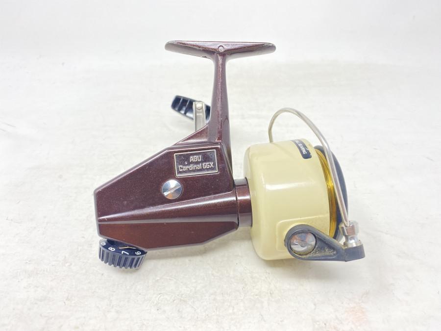 Stationärrolle, ABU Cardinal 66X, 008097, Product of Sweden, mit Schnur, Gebrauchsspuren