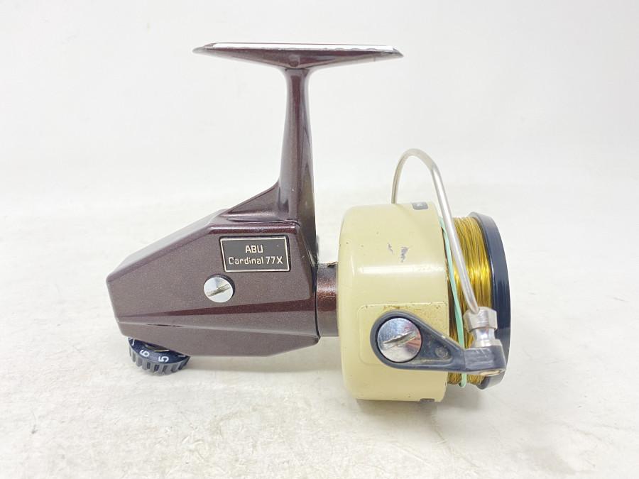 Stationärrolle, ABU 77X, No 008092, Product of Sweden, Gebrauchsspuren, technisch hervorragend