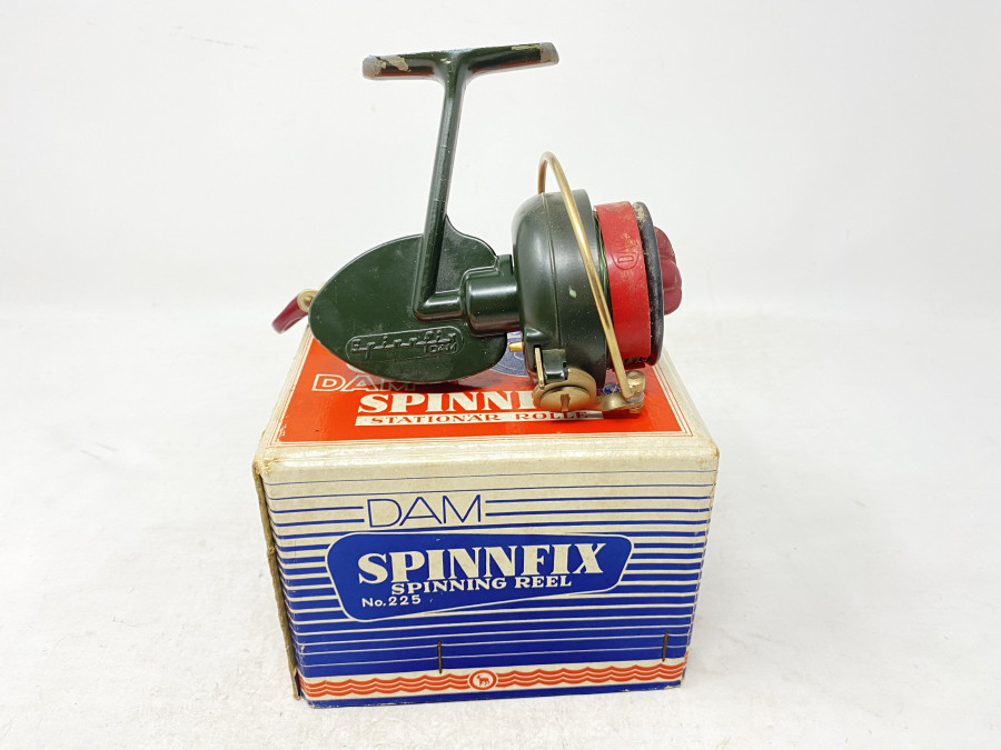 Stationärrolle, DAM Spinnfix, Gebrauchsspuren, im Karton