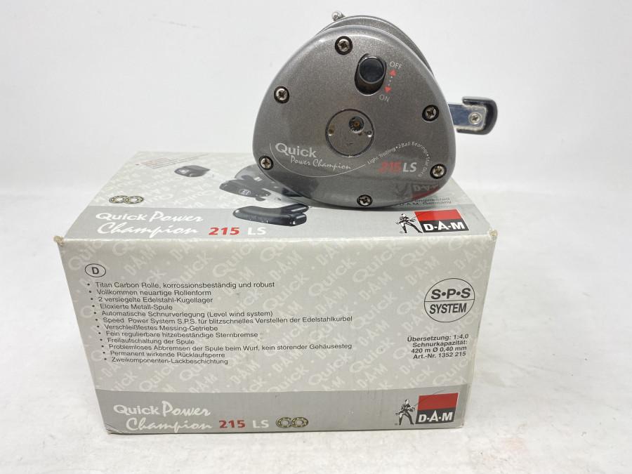 Multirolle, DAM Quick Power Champion, 215 LS, Rechtshand, mit Schnur, Papiere, Gebrauchsspuren, im Karton