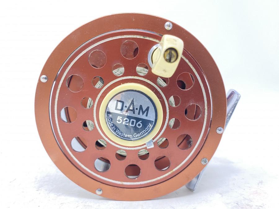 Fliegenrolle, DAM 5206, Made in Western Germany,  Linkshand, Backing, ausschaltbare Knarre, gute Bremse, Gebrauchsspuren