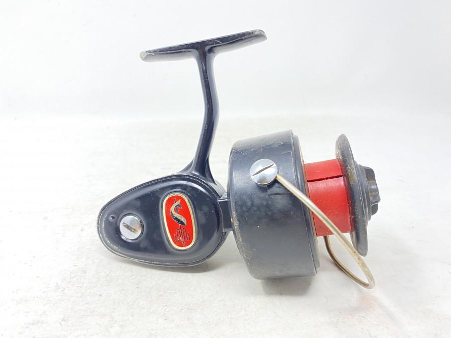 Stationärrolle, Mitchell 306, US Patent 2 726 052, Made in France, Fettwechsel erforderlich, Gebrauchsspuren