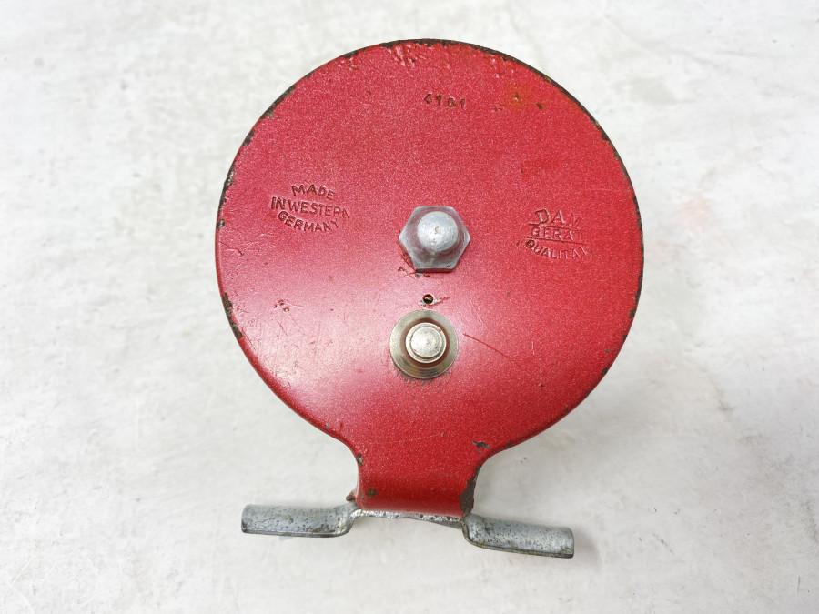 Grund- oder Wenderolle, DAM Gerät Qualität 4101, Made in Western Germany, stille Hemmung oder ausschaltbare Knarre, starke Gebrauchsspuren