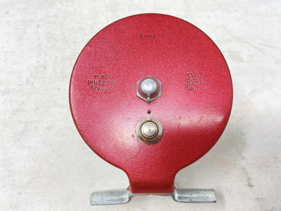 Grund- oder Wenderolle, DAM Gerät Qualität 4101, Made in Western Germany, stille oder ausschaltbare Knarre, starke Gebrauchsspuren