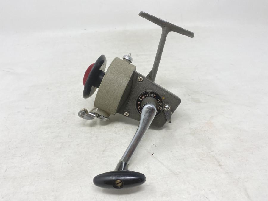 Stationärrolle, DAM Quick 228, Made in West Germany, Gebrauchsspuren