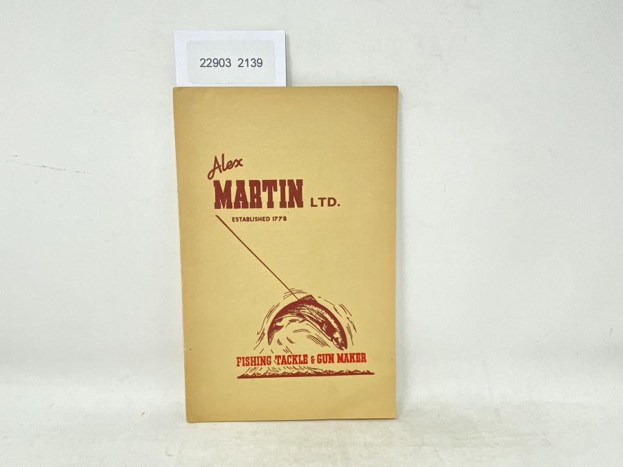 Alex Martin LTD. Fishing Tackle & Gun Maker, 1950Edition
