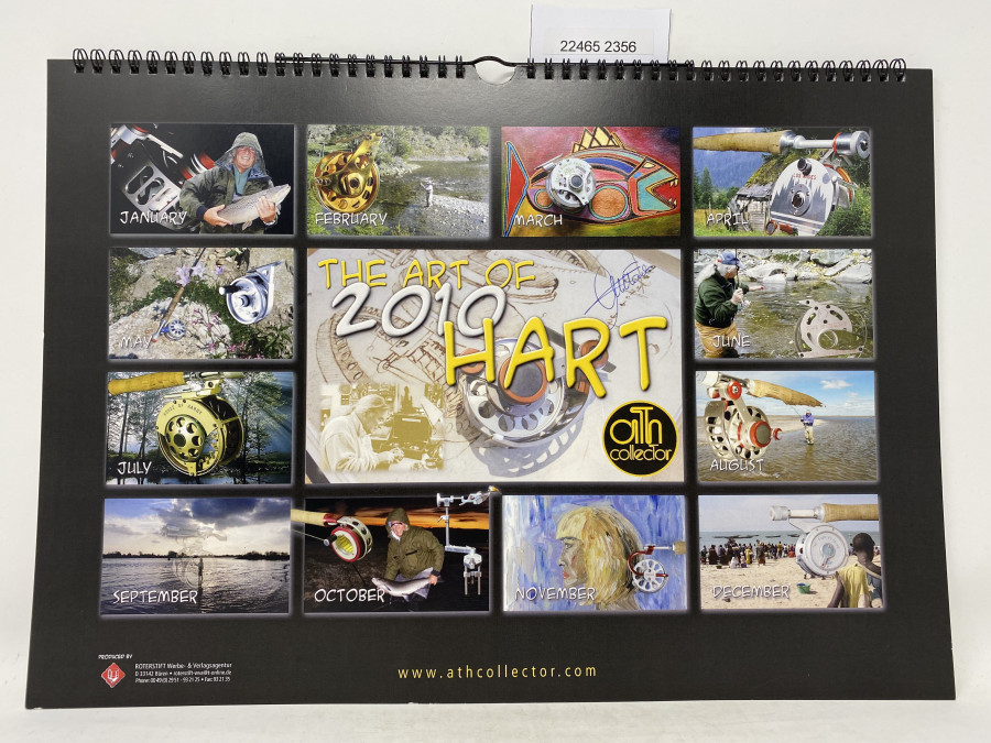 Wandkalender 2010, The Art of Hart, mit Signatur von Ari, sehr schöne Bilder