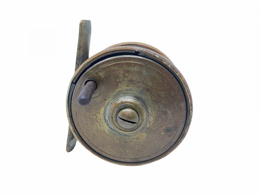 Kleine Grundrolle, Messing Bakelit, Rollendrurchmesser 54mm, Rollenbreite 32, starke Gebrauchsspuren